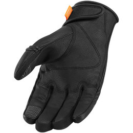 Icon Womens Automag Leather Gloves Black