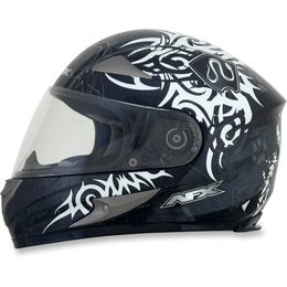 Silver Afx Mens Fx-90 Fx90 Danger Full Face Helmet