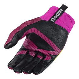 Icon Womens Anthem Blender Armored Touchscreen Textile Motorcycle Gloves 2015 Pink
