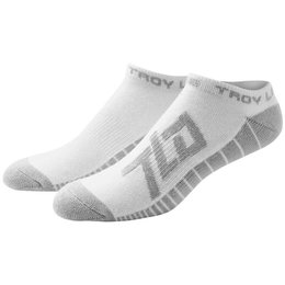 Troy Lee Designs Mens Factory Polypro Nylon Spandex Blend Ankle Socks White