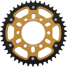 Supersprox Stealth Rear Sprocket 43T Kawasaki Ninja ZX ZRX Gold RST-488-43-GLD Gold