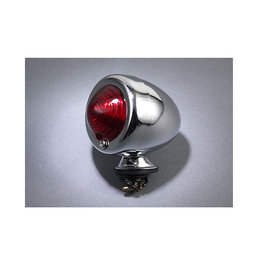 MC Enterprises Bullet Light With Red Lens Chrome Universal All