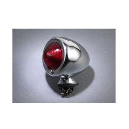 MC Enterprises Bullet Light With Red Lens Chrome Universal All