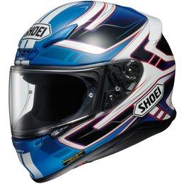 Shoei Mens RF-1200 RF1200 Valkyrie Full Face Helmet Blue