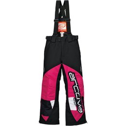 Arctiva Youth Girls Comp Insulated Bib Snowmobile Pants Pink