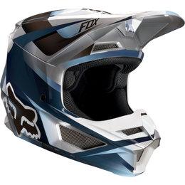 Fox Racing Youth V1 Motif MVRS Helmet Blue