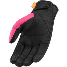 Icon Womens Automag Leather Gloves Pink