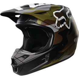 Fox Racing V1 Camo DOT Helmet Green