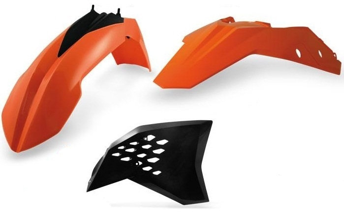 KTM 250 SX-F,450 SX-F,250 X ACERBIS FRONT NUMBER PLATE SXF//XCF /'162016 ORG Fits