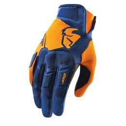 Navy, Orange Thor Mens Flow Gloves 2015 Navy Orange