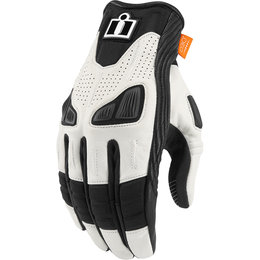 Icon Womens Automag Leather Gloves White