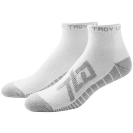 Troy Lee Designs Mens Factory Polypro Nylon Spandex Blend Quarter Socks White