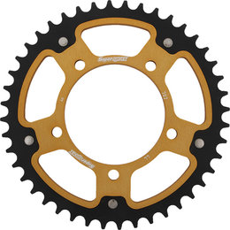 Supersprox Stealth Rear Sprocket 44T Dorsoduro RSV Tuono Gold RST-702-44-GLD Gold