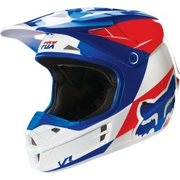 Fox Racing V1 Mako DOT Helmet Blue