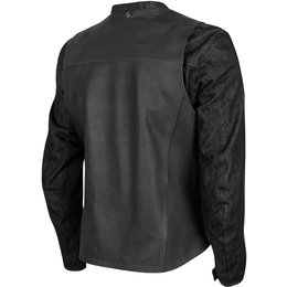 Speed & Strength Mens Ground And Pound Leather & Denim Armored Jacket Black