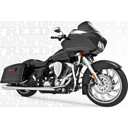 Freedom Performance Exhaust American Outlaw Dual Chrome For HD FLH FLT 2009-2013