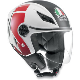 White, Red Agv Blade Fx Open Face Helmet White Red