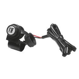 Cellularline 12 Volt Dual USB Moto Adapter Black 5510-1220-02 Black