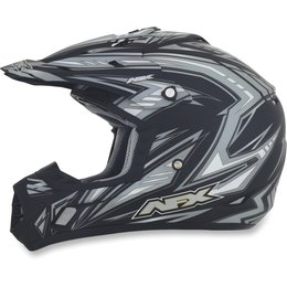 Flat Black Afx Boys Fx-17y Fx17y Factor Helmet