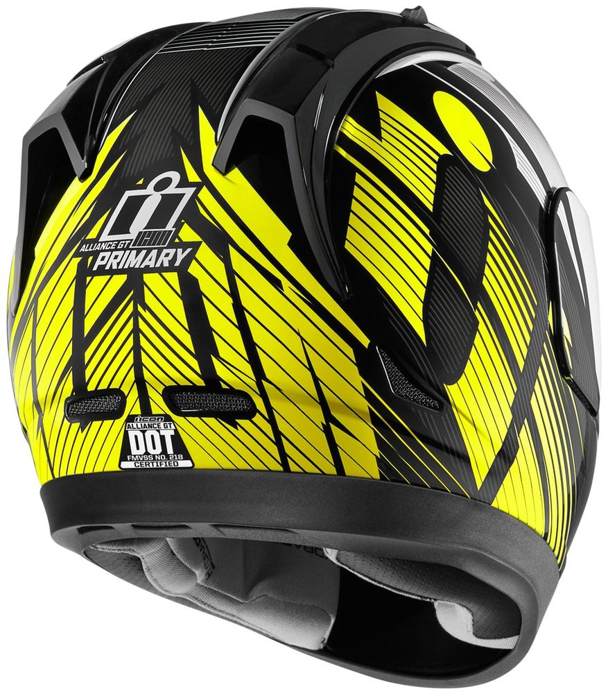 Full Face Cruiser Helmets >> $225.00 Icon Alliance GT Primary Full Face Motorcycle #261225