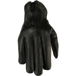 Z1R Womens 7MM Leather Lightweight Riding Gloves Black