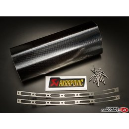 Carbon Fiber Akrapovic Repair Kit For Muffler Sleeve Carbon For Kawasaki Zx-6r Suz Gsx-r1000