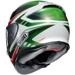Shoei Mens RF-1200 RF1200 Valkyrie Full Face Helmet Green