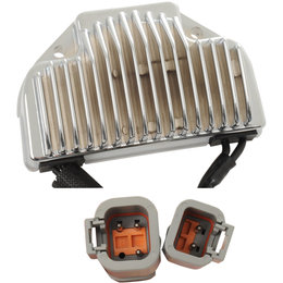 Drag Specialties Premium Voltage Regulator For Harley-Davidson Natural 2112-1043 Metallic