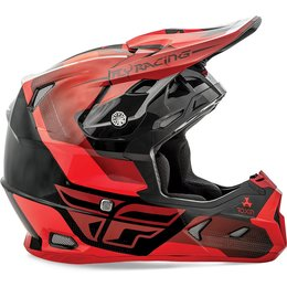 Fly Racing Toxin Graphic MX Helmet Red