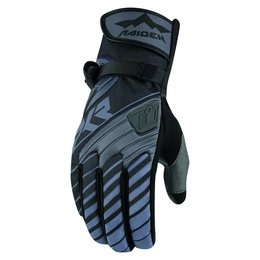 Icon Mens Raiden DKR Insulated Waterproof Textile Motorcycle Riding Gloves 2015 Grey