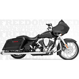 Freedom Performance Exhaust American Outlaw Dual W/ Tips Chr/Blk FLH FLT 09-13