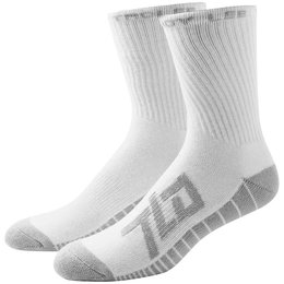 Troy Lee Designs Mens Factory Polypro Nylon Spandex Blend Crew Socks White