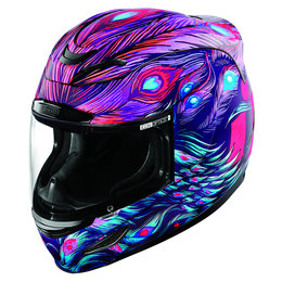 Icon Womens Airmada Opacity Full Face Helmet With Flip-Up Shield Purple Purple