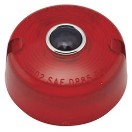 Chris Products Turn Signal Lens For Harley-Davidson FX Red/Blue Dot DHD2RB Red