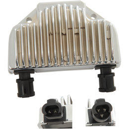 Drag Specialties Premium Voltage Regulator For Harley-Davidson Chrome 2112-1045 Metallic
