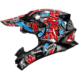 Red Shoei Mens Vfx-w Vfxw Barcia Replica Helmet 2013