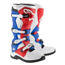 White, Red, Blue Alpinestars Mens Tech 5 Boots 2015 Us 6 White Red Blue