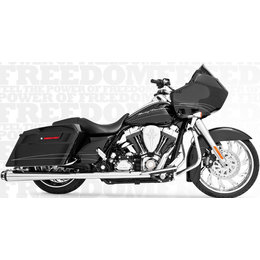 Freedom Performance Exhaust American Outlaw Dual W/ Tips Chr/Blk FLH FLT 86-08