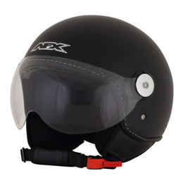 AFX FX-33 FX33 Open Face Scooter Helmet Black