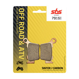 SBS Off Road SI Sintered Rear Brake Pads Single Set Husaberg Husqvarna KTM 791SI Unpainted