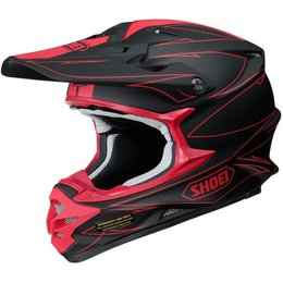 Shoei VFX-W Hectic MX Motocross Offroad Riding Helmet With Visor/Peak Black