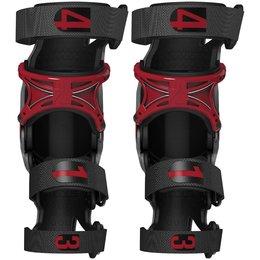 Storm Grey, Crimson Mobius X8 X-8 Knee Braces Pair Storm Grey Crimson