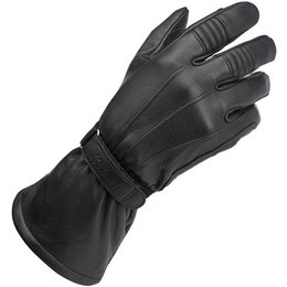 Biltwell Mens Gauntlet Leather Riding Gloves Black