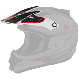 Red, Black Cyber Replacement Visor For Ux-25 Helmet Red Black