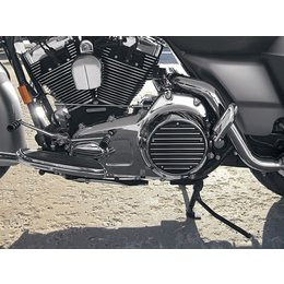 Black Covingtons Derby Cover 5 Hole For Harley Twin Cam 99-10