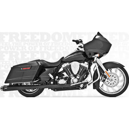 Freedom Performance Exhaust American Outlaw Dual Blk For HD FLH FLT 2009-2013