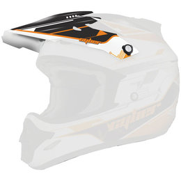 Orange, Black Cyber Replacement Visor For Ux-25 Helmet Orange Black