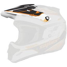 Orange, Black Cyber Replacement Visor For Ux-25 Helmet Orange Black