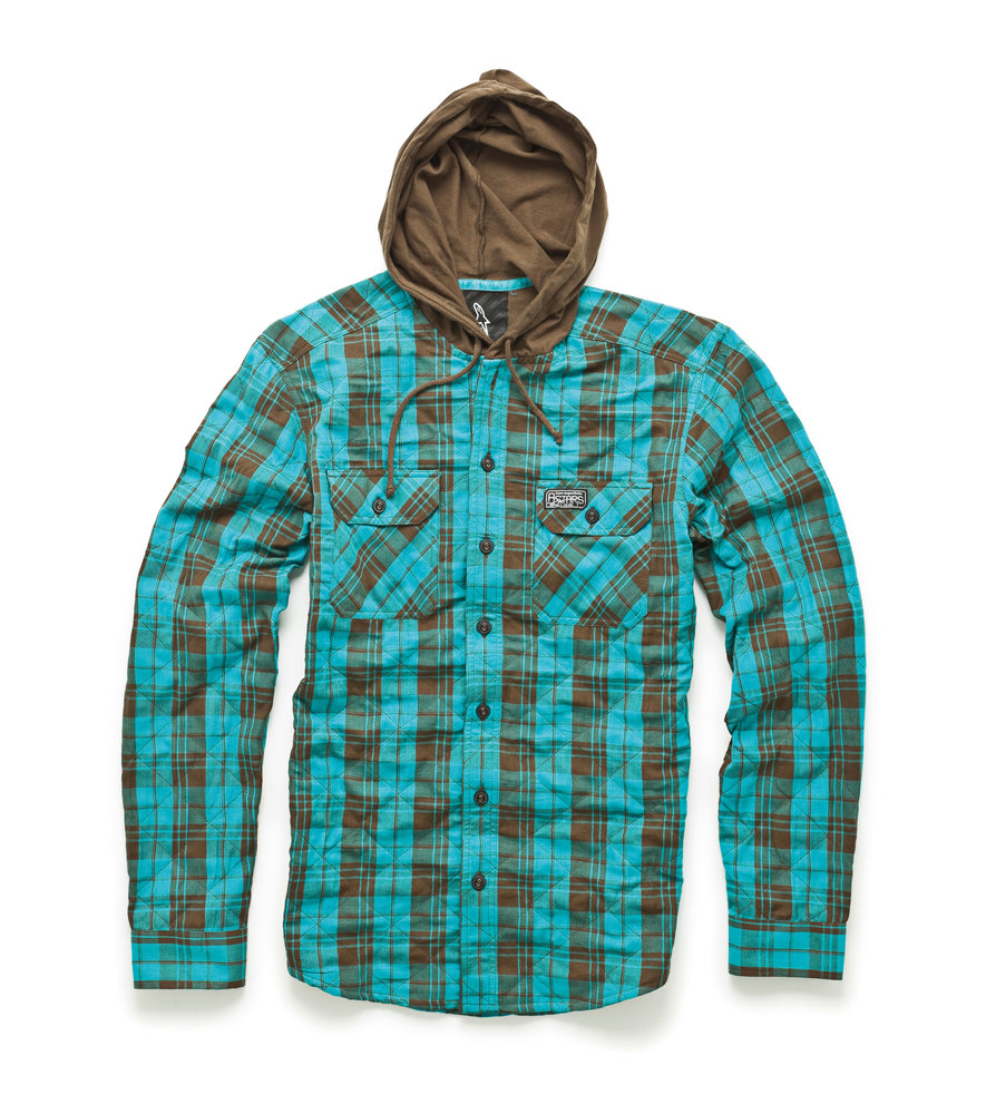 Alpinestars breed long sleeve hooded flannel shirt for Types of flannel shirts