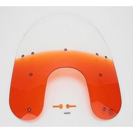 Memphis Shades 15 Windshield Orange For Harley FXR FXD
